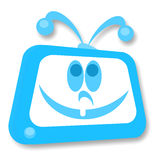 Smiling TV Royalty Free Stock Photography