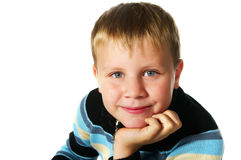 Smiling tween boy Royalty Free Stock Photos