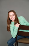 Smiling tween girl Royalty Free Stock Photography