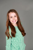 Smiling tween girl Stock Photo