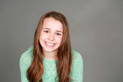 Smiling tween girl Stock Images