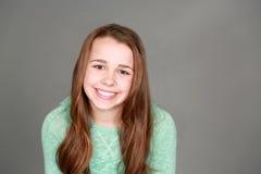 Smiling tween girl Stock Images