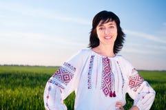 Smiling ukrainian woman outdoors Royalty Free Stock Photography