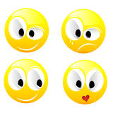 Smiling vector balls. Smiling  balls isolated on white Stock Photo