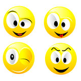 Smiling vector balls. Smiling  balls isolated on white Royalty Free Stock Image