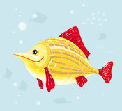 Smiling vector fish Stock Image