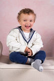 Smiling victorian boy royalty free stock photo