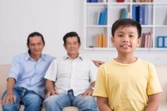 Smiling Vietnamese boy Stock Photos