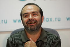 Smiling Viktor Shenderovich Stock Photo
