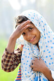 Smiling village girl Stock Photography