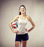 Smiling volleyball player Royalty Free Stock Photos