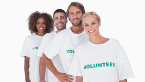 Smiling volunteer group Royalty Free Stock Photos