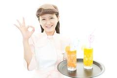Smiling waitress Royalty Free Stock Image