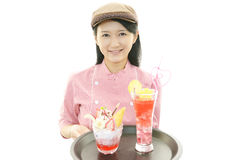 Smiling waitress Royalty Free Stock Photography