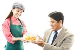 Smiling waitress Royalty Free Stock Images