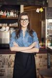 Smiling waitress Stock Photography