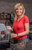 Smiling waitress Stock Image