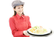 Smiling waitress Royalty Free Stock Photos