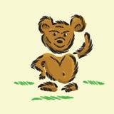 Smiling walking cartoon bear Royalty Free Stock Images