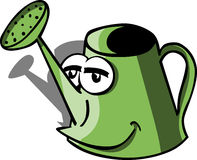 Smiling watering can Royalty Free Stock Image