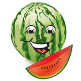 Smiling watermelon Stock Photography