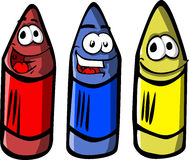Smiling wax crayons Stock Image