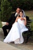 Smiling Wedding Couple royalty free stock photos