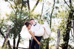 Smiling Wedding couple Royalty Free Stock Image