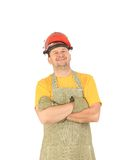 Smiling welder in apron. Stock Image