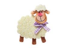 Smiling white sheep Stock Photos