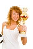 Smiling winner Stock Images