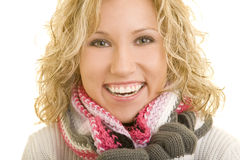 Smiling in winter Stock Photography