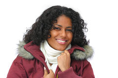 Smiling winter beauty Royalty Free Stock Photo