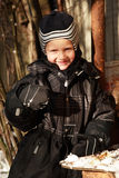 Smiling winter boy Stock Photography