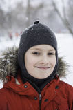 Smiling winter boy Royalty Free Stock Photos