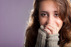 Smiling in Winter Clothes Royalty Free Stock Photos