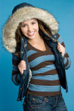 Smiling Winter Girl Stock Images