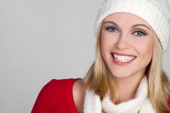 Smiling Winter Girl Stock Photos