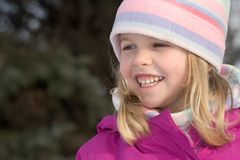 Smiling winter girl Royalty Free Stock Photos