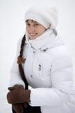 Smiling winter girl Stock Photos