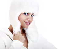 Smiling Winter Woman. Stock Image