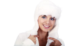 Smiling Winter Woman. Royalty Free Stock Photo