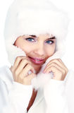 Smiling Winter Woman. Royalty Free Stock Photos