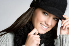 Smiling Winter Woman Stock Image