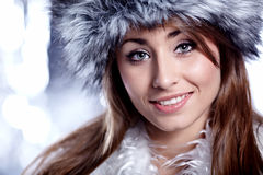 Smiling Winter Woman Royalty Free Stock Image