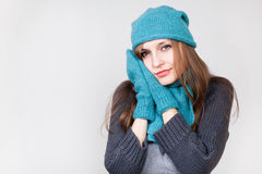Smiling Winter Woman Royalty Free Stock Photos