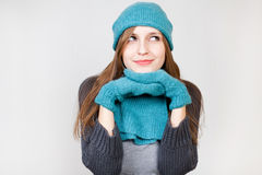 Smiling Winter Woman Royalty Free Stock Photography