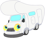 Smiling withe camper. Isolated.clipping path included Stock Photos