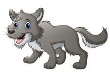 Smiling wolf cartoon. Illustration of Smiling wolf cartoon vector illustration