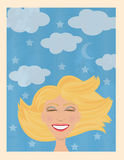 Smiling woman royalty free illustration